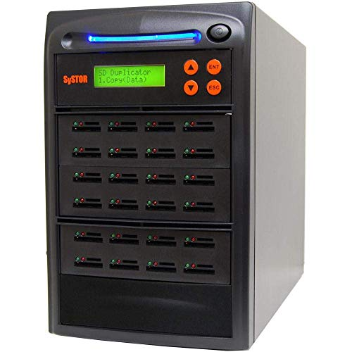 Preisvergleich Produktbild SySTOR 1 bis 23 Mehrfaches SD / microSD-Laufwerk Speicherkartenleser-Duplikator / Kopierer (SYS23SD)