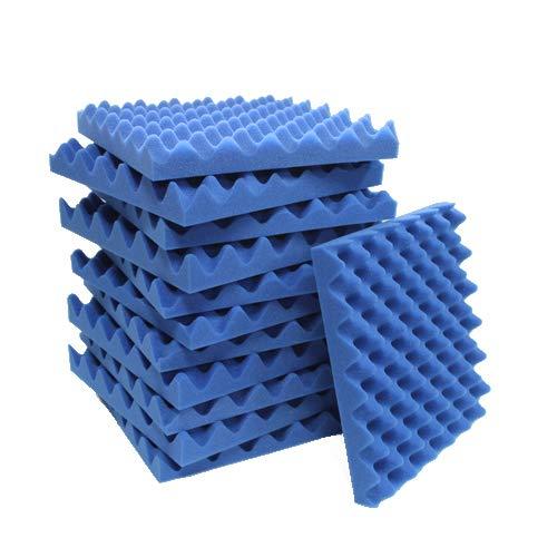 12 Pack Blue Eggcrate Acoustic Foam Sound Proof Foam Panels Noise Dampening Foam Studio Music Equipment 1.5 x 12 x 12