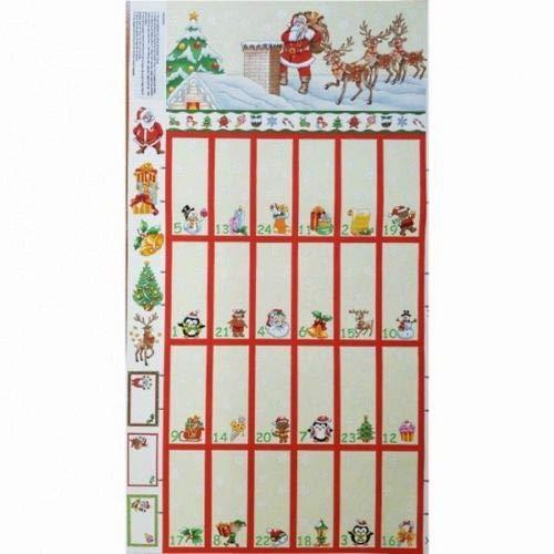 Nutex - Calendario de Adviento de Papá Noel de Navidad con Panel Acolchado de algodón
