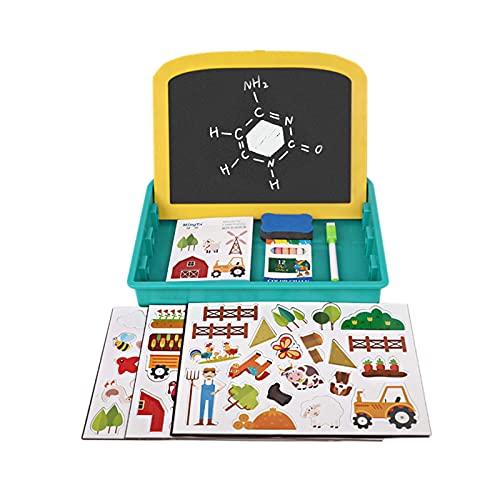 YRC Tablero de Dibujo Infantil, Tablero de Escritura magnética regrabable, Juguetes de Graffiti y imanes de Dibujos Animados, Puede Dibujar y Rompecabezas, y Use su imaginación