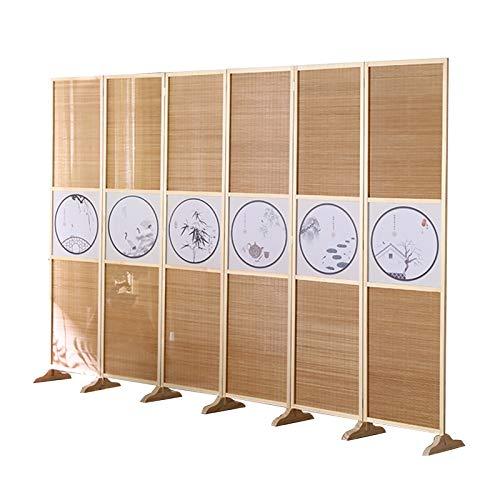 QIANDA Biombo Separador, Divisor Habitacion Móvil Bambú Hecho A Mano Tabique Decoración Muebles De Privacidad Portátil para Patio Gabinete Habitación, 2 Tamaño (Color : A, Size : 150cm)