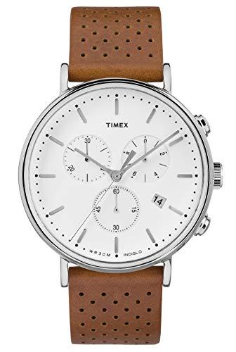 Timex Reloj Cronógrafo para Hombre de Cuarzo con Correa en Cuero TW2R26700