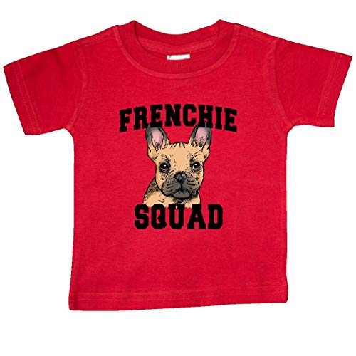 inktastic Cute French Bulldog Frenchie Squad Baby T-Shirt 24 Months Red 397c9