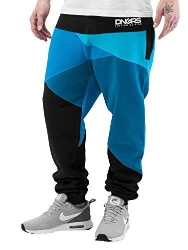 Dangerous DNGRS Herren Jogging Hose Baggy Sweat Pants Locotay H2458, Farben:Blau, Größe Hosen:XXL