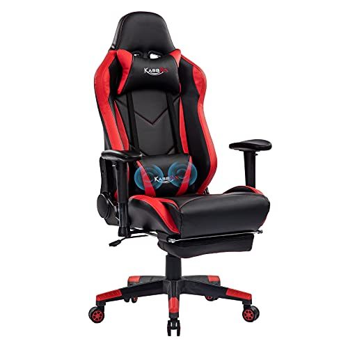 KCREAM Gaming Chairs High Back Computer Chair with Massage Backrest and Lumbar Pillows Racing Style...
