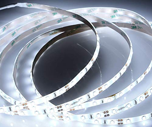 (LA) ROLLO de 5 metros de Tira de led 12w/metro a 24v, 4800 lumenes reales! Diodo 5630 5m 60 led/m. Alta luminosidad. (Blanco frio 6500K, Potencia 12w/m)