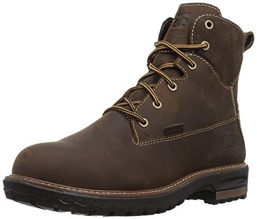 "Timberland PRO Women's Hightower 6"" Alloy Toe Waterproof Industrial & Construction Shoe, Kaffe Full-Grain Leather, 7"