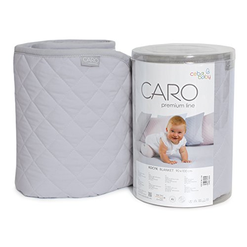 ceba Baby w-813 – 079 – 260 Blanket Caro Grey, Mint, Blue, Grey, Pink