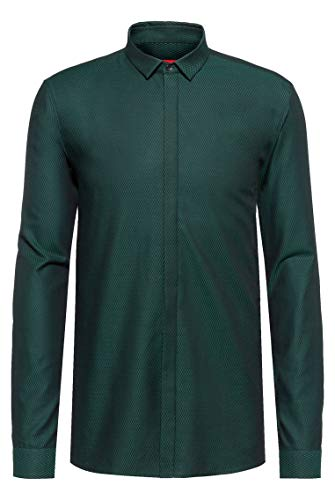Photo of HUGO Men's Etran 50437996 Shirt, Dark Green (301), 41