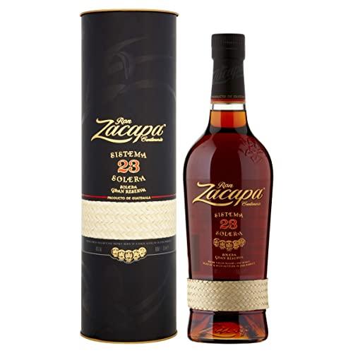 Ron Zacapa Sistema Solera 23 Jahre Rum – Süß-fruchtiger Rum – Ideale Spirituose als Aperitif, Digestif oder für Cocktails - in Geschenkbox – (1 x 0.7 l)