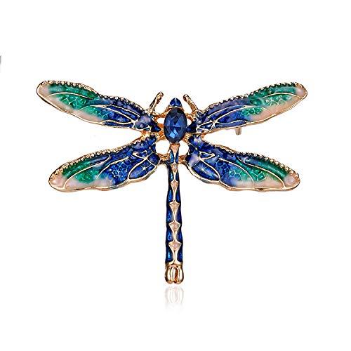 WayOuter Broches de Mujer de Cristales Ropa Broches Moda Decoración del Partido Alfiler para el Accesorios de Boda de el Aniversario Pin de Ramillete Regalo de San Valentín (Libélula)