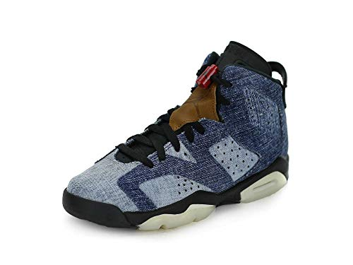 Nike Air Jordan 6 Retro (gs) Big Kids Cv5489-401 Size 6.5 Blue