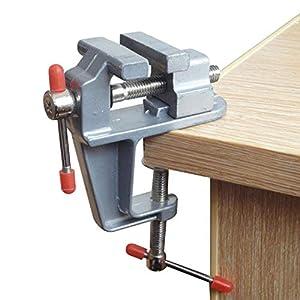 Amatt - Mini tornillo ajustable con abrazadera para banco de mesa Hobby