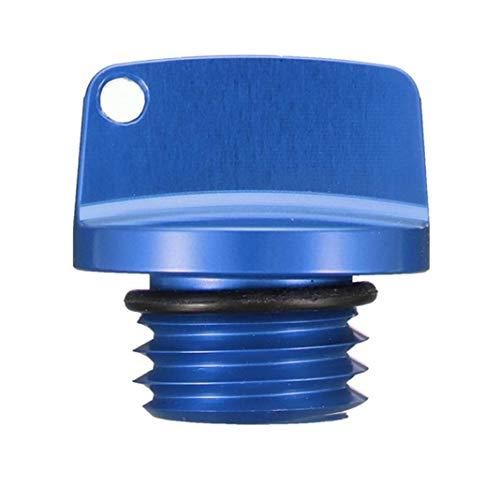 YSHTAN Motorrad-Öl-Tankdeckel für Motorrad, CNC-Öleinfülldeckel, für Hond-a Yamah-a Kawasaki – Schwarz blau