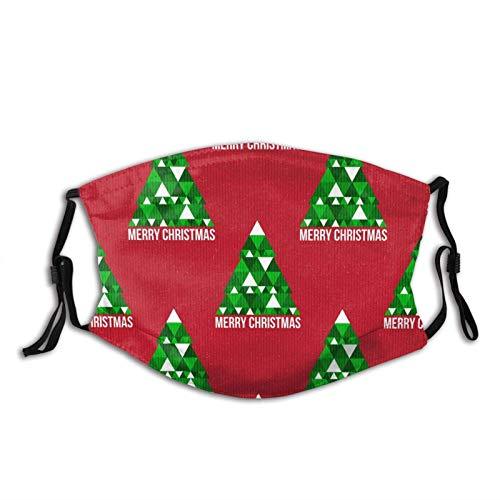Merry Christmas Tree Face Mask Dustproof Breathable Protective Scarf Reusable Adjustable Washable Fashion Bandana Made In USA