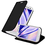 Cadorabo Funda Libro para Samsung Galaxy S3 / S3 Neo en Classy Negro - Cubierta Proteccíon con Cierre Magnético, Tarjetero y Función de Suporte - Etui Case Cover Carcasa