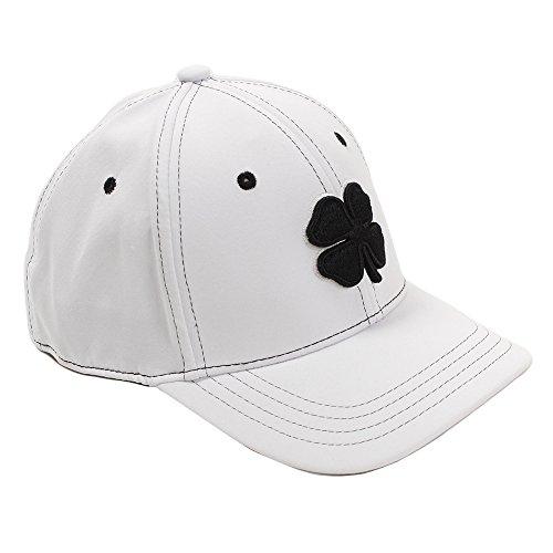 Boné masculino Black Clover premium ajustado número 1 - Branco (branco, jovem)