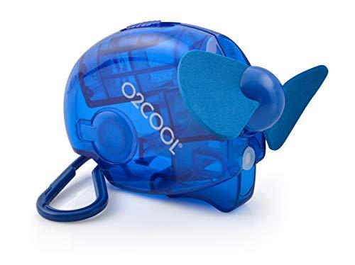 O2COOL o2-Cool fms0001Carabiner-Ventilador y vaporizador, Azul Oscuro