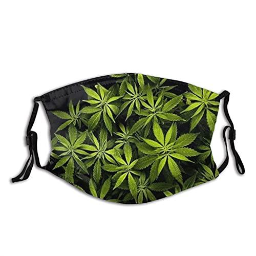 Regalo de Navidad Mascarilla de Cannabis Hoja Reutilizable Lavable Hombres Mujeres Tela Polvo Cubierta de la Cara Otoño Otoño Otoño Otoño Otoño Escudo