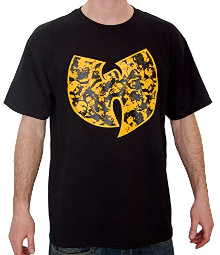 WU Wear WU Faces T-Shirt, WU Tang Clan Urban Streetwear Fashion Chemise, Hip Hop, pour Hommes, Noir Taille 3XL, Couleur Black