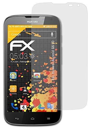 atFolix Panzerfolie kompatibel mit Huawei Ascend G610 Schutzfolie, entspiegelnde & stoßdämpfende FX Folie (3X)