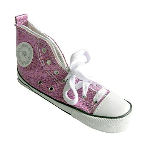 Wedo 2426157902 - Estuche escolar, zapatilla deportiva Sneaker brillante, color rojo