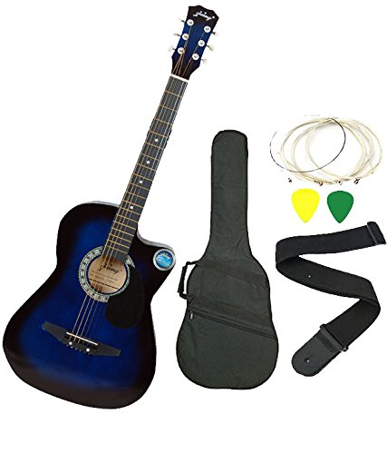 Jixing JXNG 6 Strings Acoustic Guitars With Combo (Blue)