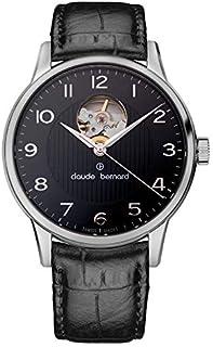 Claude Bernard - 85017-3-NBN - Reloj para Hombres, Correa de Cuero Color Negro
