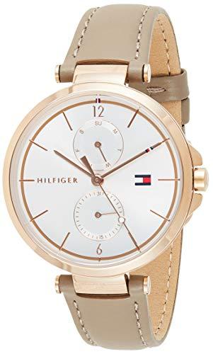 Tommy Hilfiger Reloj Multiesfera para Mujer de Cuarzo con Correa en Cuero 1782125