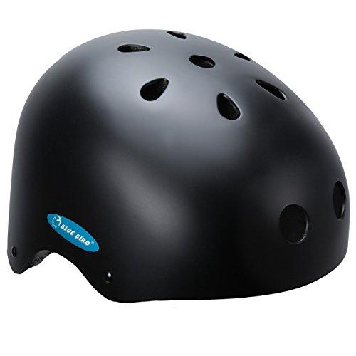 Ideale Helm für BMX Freestyle, Inliner, Skateboard, schwarz, 54-56 cm, 67099