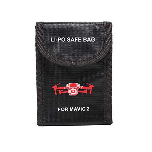 KINGWON Lipo Akku Tasche Batterie Schutz Tasche für DJI Mavic 2 Pro / Mavic 2 Zoom, Drohne Batterien Zubehör Explosionsgeschützte Safe Storage Bag,1 Stück