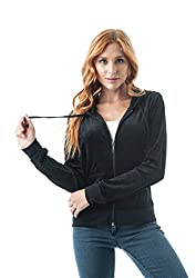 """Velvet Velour Hoodie Sweater Imported 80% Cotton 20% Polyester Hand wash cold 22"""" inch Full Length"""