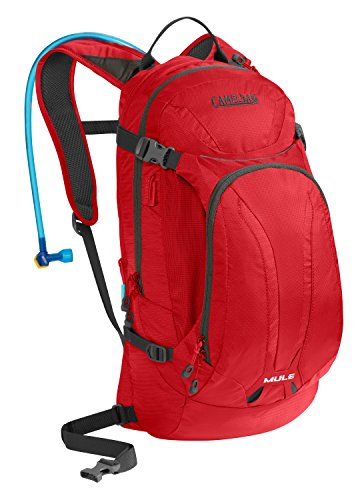 CamelBak M.U.L.E. Mountain Biking Hydration Pack - 20 Percent More Water Per Sip - Easy Refilling - Magnetic Tube Trap - 100 Ounce