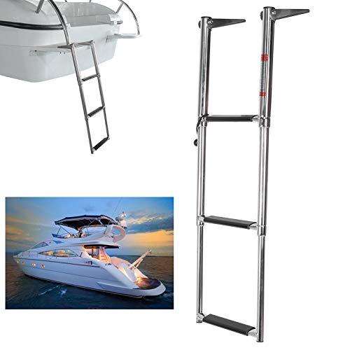 EBTOOLS Escalera de embarque para Barcos, Escalera para Cubierta de 3 escalones,...