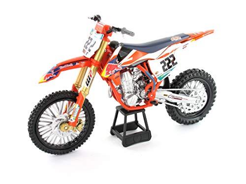 New Ray NR58123 1:10 Red Bull KTM 450 SX-F Cairoli 222, Orange