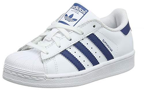 adidas Superstar C, Unisex-Kinder Gymnastikschuhe, Weiß (White (Ftwr White/Legend Marine), 34 EU (2 UK)