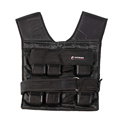 Titan Fitness 30 LB Adjustable Weighted Vest, Strength Training, Fitness, Muscle Building