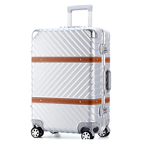Yamyannie Trolley Suitcase 20 Inch 24 Inch 29 Inch Portable Carry On Luggage Suitcase Spinner Hardshell Trolley Suitcase With Spinner Wheels Business Travel Bag Aluminum Frame for Holiday