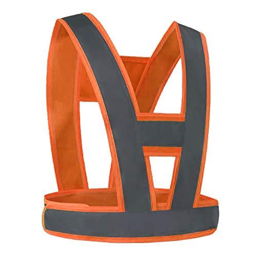 perfk Warnweste Reflektierende Arbeitsweste Sicherheitsweste, Hohe Sichtbarkeit, Wasserfest - Orange, Grau Reflexstreifen