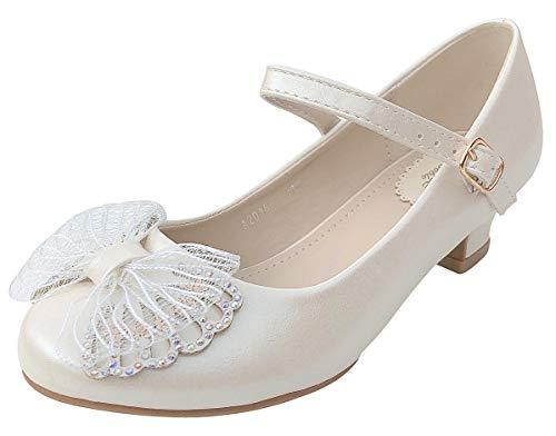 La Senorita Hiszpańskie flamenco buty księżniczki buty Butterfly, biały - Ivory Weiß - 24 EU