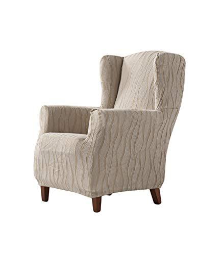 Zebra Textil Ohrensessel-husse, Leinen, 1 Sitzer