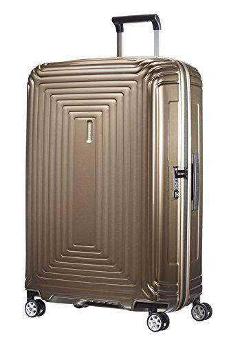 Samsonite Neopulse - Spinner L Valigia, 75 cm, 94 L, Marrone (Metallic Sand)