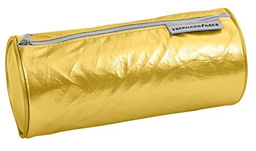 Eberhard Faber 577422 - Jumbo Schlamperrolle aus abwaschbarem Papier, in gold, mit Reißverschluss, Durchmesser ca. 21 cm, Schreibtisch-Organizer für Schreibwaren, Zeichen- und Büromaterialien