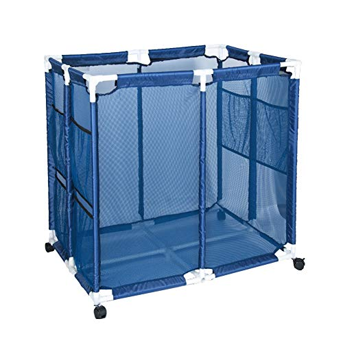 Toopify Mesh Basket Pool Storage Container Rolling Organizer Bin for Your Goggles Pool Noodle Floats Swim Toys Beach Balls EquipmentX-Lage