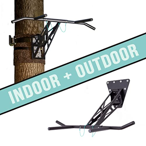 PULLUP & DIP Indoor & Outdoor Pull-up bar (Indoor + Outdoor Package (Wall and Tree/Post mounting))