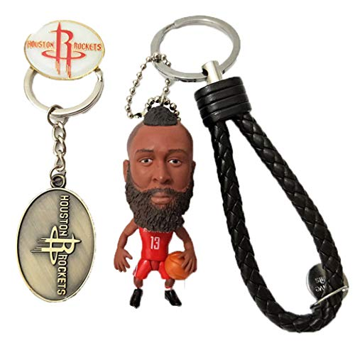 Cradifisho – Llavero de muñeca con estrella de la NBA, muñeca de baloncesto, muñeca de baloncesto artesanal Zakka NBA de resina(James Harden)