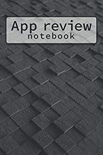 APP REVIEW NOTEBOOK: Web Application Review Log book Tracker - Cool Black 3D Style Cover