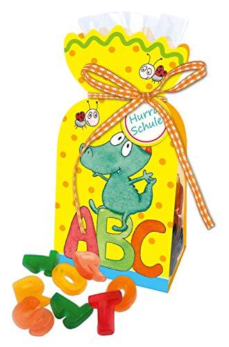 STEINBECK Einschulung Fruchtgummi Buchstaben zum Essen Geschenk süß Erstklässler Schulstart Schultüte Zuckertüte 100g Befüllung ABC Schulkind zum Befüllen
