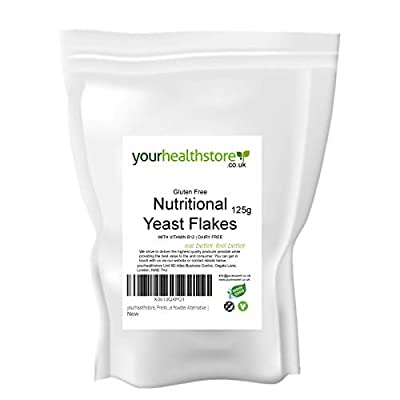 yourhealthstore, Premium Nutritional Yeast Flakes 125g | with Vitamin B12 | Non GMO | Gluten Free | Dairy Free | Vegan Cheese Powder Alternative |