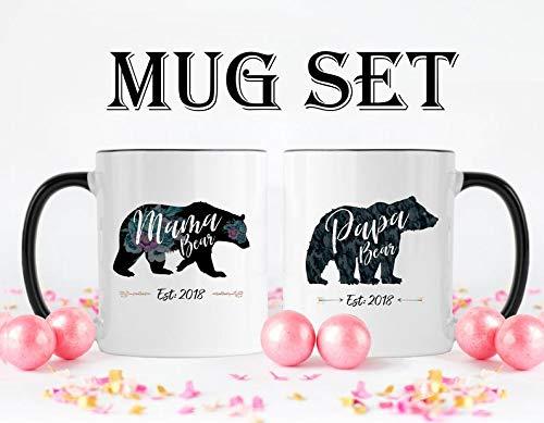 Maxwell546 - Taza para mamá y papá, regalo para nuevos padres, mamá y papá, nueva mamá y papá, nueva mamá y papá, taza de café para nuevos padres, taza de café para nuevos padres, mamá oso